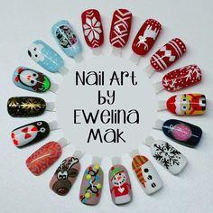 Last Christmas I gave you my ... designs xD  #christmas #nail #nails #nailart #nailbar #winter #wzorki #white #snow #sweet #pazurki #paznokcie #red #snowman @indigonails