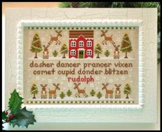 """""""Reindeer Games"""" is the title of this cross stitch pattern from Country Cottage Needleworks."""