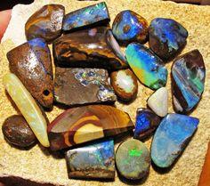 160Cts Parcel  18 Boulder  Opal   Rubs QOM 1409 boulder opal rough, opal rough