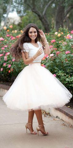 Wholesale cheap tulle skirts online, brand - Find best 2015 spring white tulle tutu skirts adult women vintage summer adult women princess lady white knee-length skirts at discount prices from Chinese skirts supplier - click_me on DHgate.com.