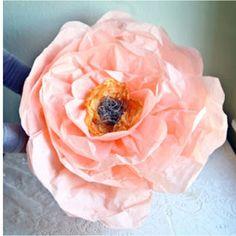 Oversized tissue paper flowers diy tutorial pinterest paper ruche flower diy paper for hat mightylinksfo
