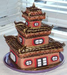 Chinese pagoda cake