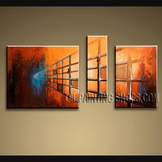 Huge Modern Abstract Painting Artist Oil Painting Stretched Ready To Hang Abstract. This 3 panels canvas wall art is hand painted by Bo Yi Art Studio, instock - $132. To see more, visit http://OilPaintingShops.com