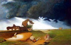 Csontváry Kosztka Tivadar: Vihar a pusztán 1890-es évek eleje  olaj, vászon fán (magángyűjtemény)