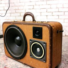 RePurpose an old suitcase with a speaker for a Boombox | honey, we ...
