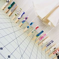 Clothes Pins in a row. #lineup #organization
