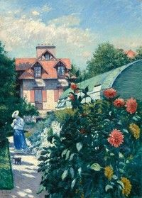 Gustave Caillebotte, French, 1848 – 1894, Dahlias, Garden at Petit Gennevilliers, 1893, Oil on canvas, National Gallery of Art, Washington, Gift of the Scharffenberger Family