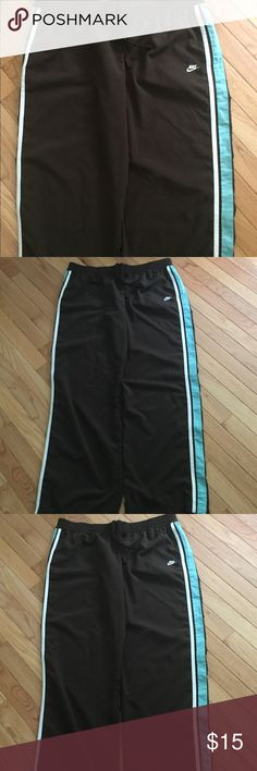 Nike running pants Brown with blue side stripes Nike Pants Track Pants & Joggers