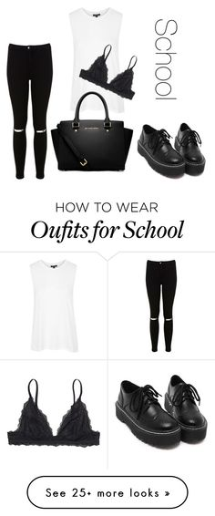 """Back to school"" by ilona-meskhi on Polyvore featuring moda, Topshop, Monki, Miss Selfridge e MICHAEL Michael Kors"