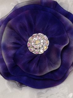 Feel like a queen in this Royal Purple Kippah  hand sewn from hand dyed 100% siik. Women's Silk Kippot are offered by VintageBloomsByEllen on Etsy