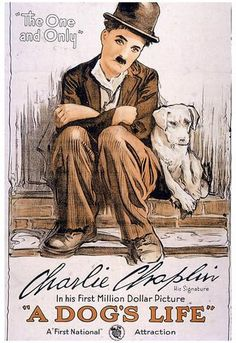 Charlie Chaplin - Wikipedia, the free encyclopedia. birthday of Charlie Chaplin Classic Movie Posters, Classic Movies, Old Movies, Vintage Movies, Poster S, Poster Prints, Life Poster, Art Print, Dog Prints