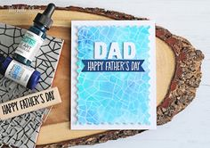 Hello there, today I have a card to share that I made for my Dad for Father's Day. I used Hero Arts  products for this one, I kept it simpl...