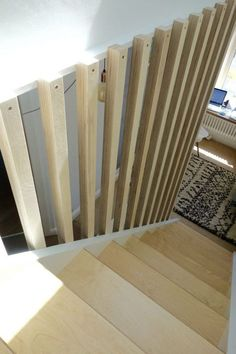 Banisters, balustrades and building regs – The alternative loft staircase Full height spindles and picture ledge
