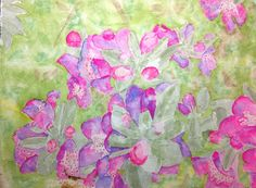 Purple Sage with Bee by Nan Henke by TexasHillCountryArt on Etsy, $90.00