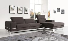 Stylish Design Furniture - Divani Casa 1416 Modern Brown Fabric Sectional Sofa w iPhone Dock, $1,712.00 (http://www.stylishdesignfurniture.com/products/divani-casa-1416-modern-brown-fabric-sectional-sofa-w-iphone-dock.html)