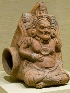 Another view of a Seated Male Whistle Figure Mayan Ceramic 600-900 CE | Flickr - Photo Sharing!