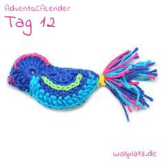 12.12. AdventsCALender: Es ist Wochenende und wir freuen uns über diesen fröhlich singenden Vogel in seiner farbenfrohen Federpracht: http://www.wollplatz.de/blog/wollplatz-adventscalender/