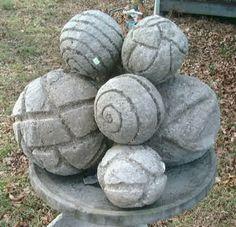 Hypertufa balls