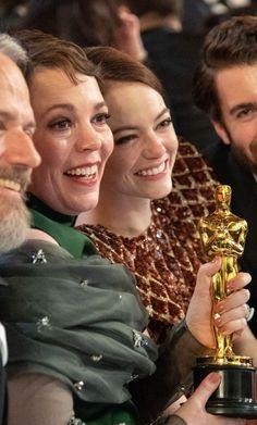 Girl Pics, Girl Pictures, Ryan Gosling, Emma Stone, Fan Girl, Awards, Celebs, Couple Photos, Troy