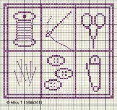 couturière - dressmaker - bobine - ciseaux - point de croix - cross stitch - Blog : http://broderiemimie44.canalblog.com/