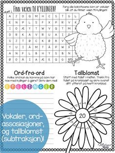 Easter Printable Activity Pages - Malimo Mode Language Activities, Math Activities, Teaching Math, Teaching Resources, 4th Grade Classroom, Classroom Ideas, Elementary Teacher, Elementary Education, Teacher Blogs