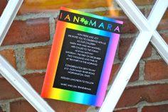 Rainbow Bat Mitzvah Invitation Package by EmilysEventsEtc