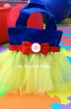 Snow White Inspired Tutu Purse Canvas Tote by LittleHeartsNCrafts