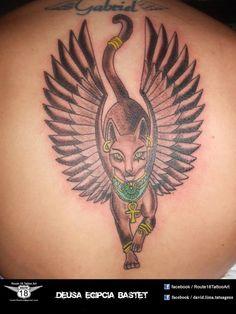 egyptian bastet tattoo | Deusa Egipcia Bastet Tatuagemcom Tatuagens Tattoo picture
