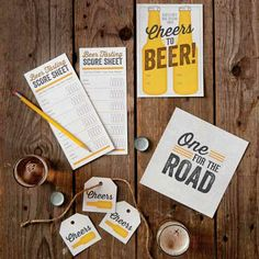 Ales & Apps | Free invitations, favor tags, and score sheets for a beer tasting party!