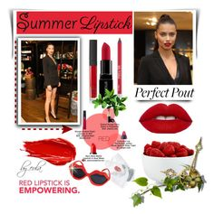 """The Perfect Pout: Summer Lipsticks"" by eula-eldridge-tolliver ❤ liked on Polyvore featuring beauty, Urban Decay, Smashbox, NARS Cosmetics and The Cellar"