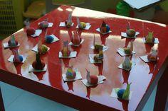 Dia de S.Martinho. Castanhas pintadas e adaptadas para carapaça de caracol.
