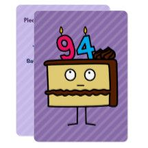 94th Birthday Cake With Candles Card