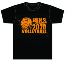 Volleyball Team Shirt Designs | High School Volleyball T-shirt