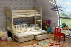 Patrová postel s výsuvnou přistýlkou PPV 001 levně | eoshop.cz Bed In Living Room, Kids Furniture, Bunk Beds, Exterior Design, Interior Inspiration, Teak, Toddler Bed, House, Home Decor