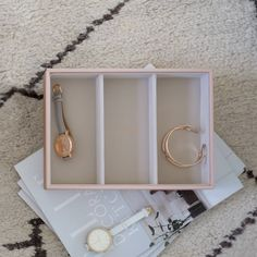 Stackers | Watch/Accessory Layers Jewelry Tray, Jewellery Boxes, Jewellery Storage, Jewelry Gifts, Travel Box, Chunky Jewelry, Velvet Material, Blushes, Statement Rings