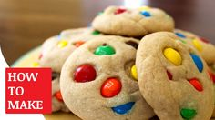 How To Make M&M Cookie https://youtu.be/B9kbo94lIB4 You can find the M&M Cookie Recipe http://allrecipes.com/recipe/10785/robbis-mms-cookies/