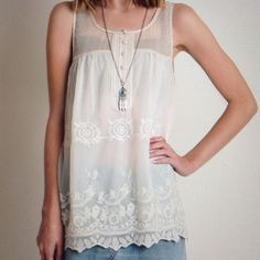 IWILL MAKE A SEPARATE LISTING FOR YOUR SIZE SEMI SHEER TOP-55% COTTON-45% POLYESTER-PULL-OVER Umgee Tops Blouses