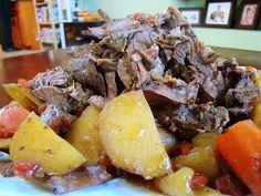 Crock Pot Rosemary Roast Krista's Kitchen: 3-4 lb roast(boneless shoulder, round, check or small rump roast)