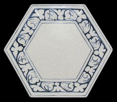 Dedham Pottery The Potting Shed Large Hexagon Serving Dish Plate | eBay