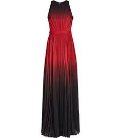 REISS - HAWK OMBRE PLEATED MAXI DRESS