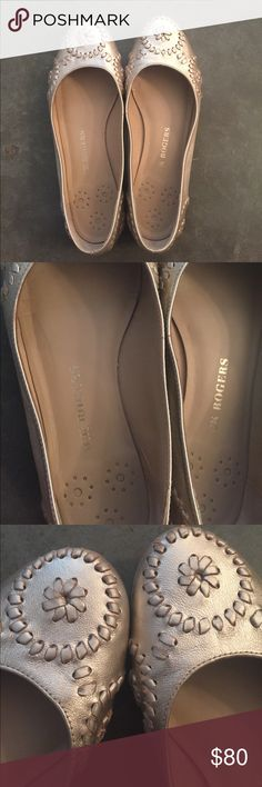 Jack Roger Ballet Flats Size 10 Jack Roger Ballet Flats Size 10. Great condition and hardly worn. Gold/Champagne color. Jack Rogers Shoes Flats & Loafers