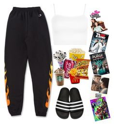 Designer Clothes, Shoes & Bags for Women Burlesque, Adidas Originals, Lazy, Sweatpants, Costumes, Shoe Bag, Night, My Style, Polyvore