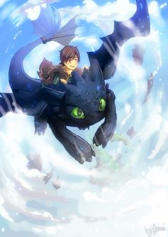 Hiccup and Toothless by ~clover3D on deviantART