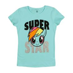 Girls' My Little Pony T-Shirt - Blue XL, Girl's, Turquoise