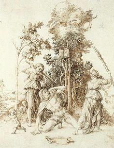 La muerte de Orfeo. Durero, 1494.