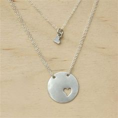 mother daughter necklace. Kind of in love with this. would be wonderful gift maybe for first day of school or first big trip away from mom