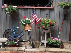 Red, White and Blue! « Flea Market Gardening