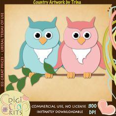 Friendly Owls 2 - Trina Clark Cutting File / Paper Piecing : Digi Web Studio, Clip Art, Printable Crafts & Digital Scrapbooking!
