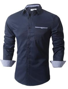 Dress shirt with different colored cuffs clothing