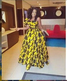 Yellow African Print Dress/Yellow Ankara Dress/African Clothing/African Dress/African Fabric Dress/A African Fashion Ankara, Latest African Fashion Dresses, African Inspired Fashion, African Print Dresses, African Print Fashion, Africa Fashion, African Dress, Fashion Prints, African Fabric